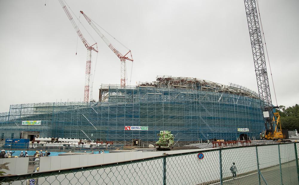 千葉公園の四季(2020/07/15)新競輪場の工事すすみ、プールの準備も始まった