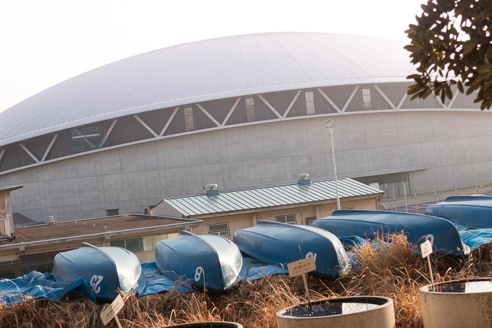 ちば競輪場リニューアル工事まもなく完了、新市営体育館工事始まる