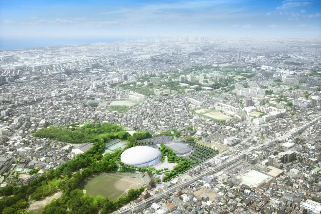 千葉 JPFドーム、ようやく始動。千葉公園体育館(仮称)建設中
